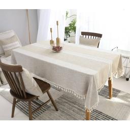 Mantel Rectangular Con Borlas Para Mesa 140x180 cm