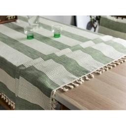 Mantel Rectangular Con Borlas Para Mesa 140x220 cm