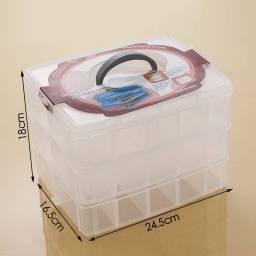Caja Organizadora Apilable de 3 Niveles con Compartimentos Grande