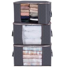 Cesto caja de almacenamiento no tejido con cierre