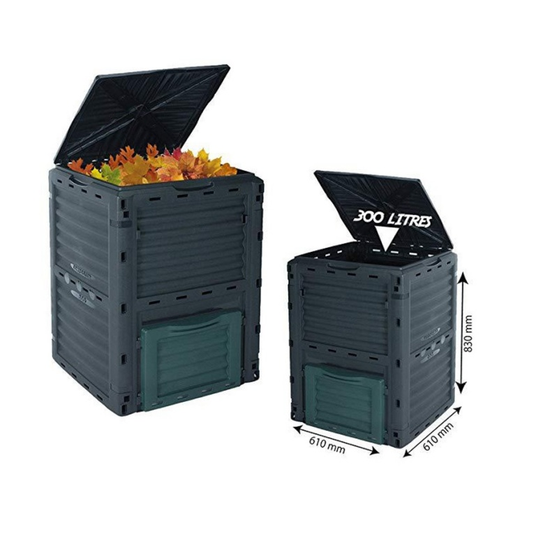 Compostera compostador de plástico para compost 300L