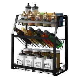 Estante Multifuncion para Especias y Condimentos de 3 Niveles