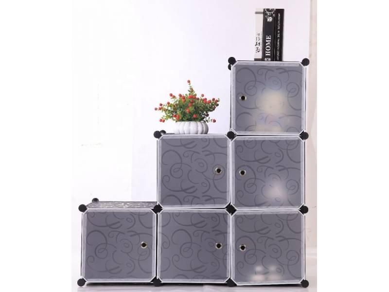 Estantería Organizador Plástico 6 Cubos