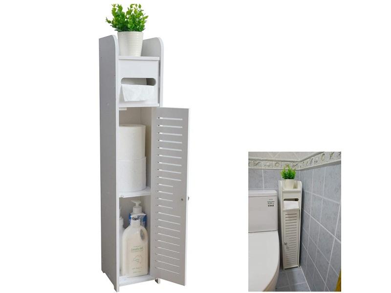 Mueble organizador con puertas y estantes para espacios reducidos